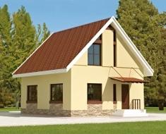 Бюджетный двухэтажный дом ЯА 154-53