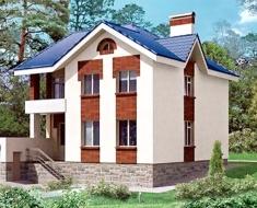 Красивый дом с гаражом и лоджией ЯА 191-95